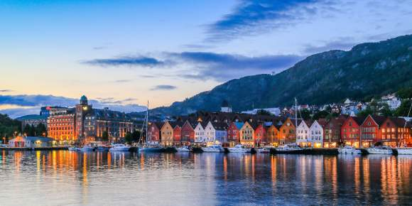 Bryggen wharf, city of Bergen, Norway